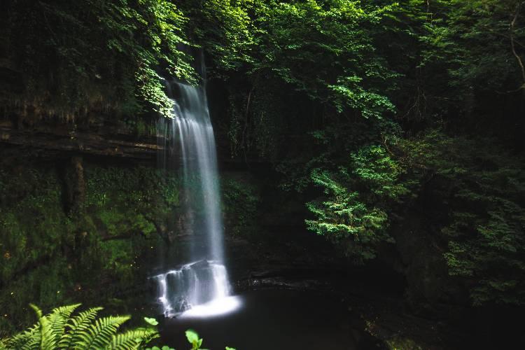 Glencar Waterfall Leitrim Ireland, the benefits of nature